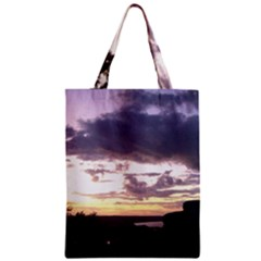 Sunset Over The Valley Zipper Classic Tote Bags