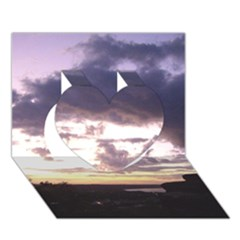 Sunset Over The Valley Heart 3d Greeting Card (7x5)