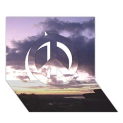 Sunset Over The Valley Peace Sign 3D Greeting Card (7x5)