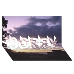 Sunset Over The Valley SORRY 3D Greeting Card (8x4)
