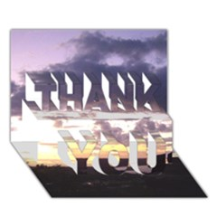 Sunset Over The Valley Thank You 3d Greeting Card (7x5)