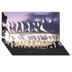 Sunset Over The Valley Happy Birthday 3D Greeting Card (8x4)