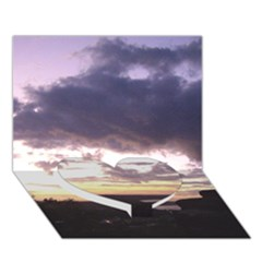 Sunset Over The Valley Heart Bottom 3D Greeting Card (7x5)