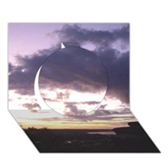 Sunset Over The Valley Circle 3D Greeting Card (7x5)