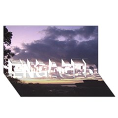 Sunset Over The Valley Engaged 3d Greeting Card (8x4)