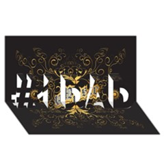 Music The Word With Wonderful Decorative Floral Elements In Gold #1 DAD 3D Greeting Card (8x4)
