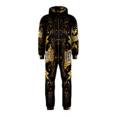 Music The Word With Wonderful Decorative Floral Elements In Gold Hooded Jumpsuit (Kids)