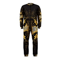 Music The Word With Wonderful Decorative Floral Elements In Gold OnePiece Jumpsuit (Kids)