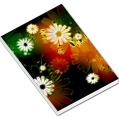 Awesome Flowers In Glowing Lights Large Memo Pads