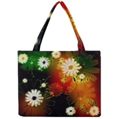 Awesome Flowers In Glowing Lights Tiny Tote Bags