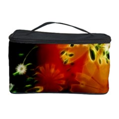 Awesome Flowers In Glowing Lights Cosmetic Storage Cases