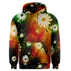 Awesome Flowers In Glowing Lights Men s Pullover Hoodies