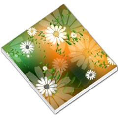 Beautiful Flowers With Leaves On Soft Background Small Memo Pads