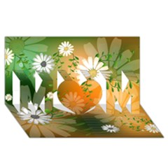 Beautiful Flowers With Leaves On Soft Background MOM 3D Greeting Card (8x4)