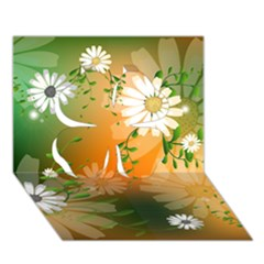 Beautiful Flowers With Leaves On Soft Background Clover 3d Greeting Card (7x5)