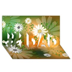 Beautiful Flowers With Leaves On Soft Background #1 DAD 3D Greeting Card (8x4)
