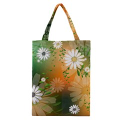 Beautiful Flowers With Leaves On Soft Background Classic Tote Bags