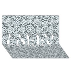 Bridal Lace SORRY 3D Greeting Card (8x4)
