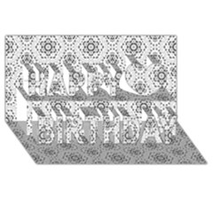 Bridal Lace 2 Happy Birthday 3D Greeting Card (8x4)