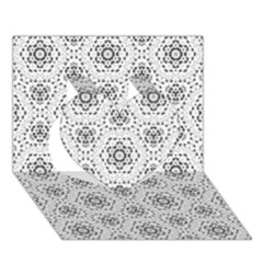 Bridal Lace 2 Heart 3D Greeting Card (7x5)