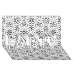 Bridal Lace 2 PARTY 3D Greeting Card (8x4)