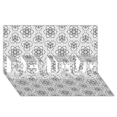 Bridal Lace 2 BELIEVE 3D Greeting Card (8x4)