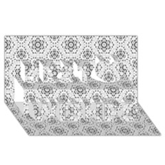 Bridal Lace 2 Best Wish 3D Greeting Card (8x4)