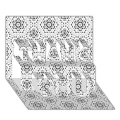 Bridal Lace 2 THANK YOU 3D Greeting Card (7x5)
