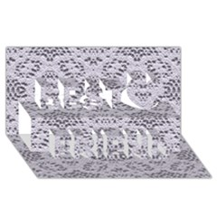 Bridal Lace 3 Best Friends 3D Greeting Card (8x4)