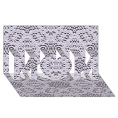 Bridal Lace 3 MOM 3D Greeting Card (8x4)