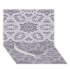 Bridal Lace 3 Heart Bottom 3D Greeting Card (7x5)