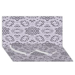 Bridal Lace 3 Twin Heart Bottom 3D Greeting Card (8x4)