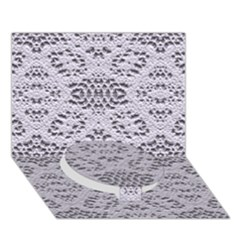 Bridal Lace 3 Circle Bottom 3D Greeting Card (7x5)