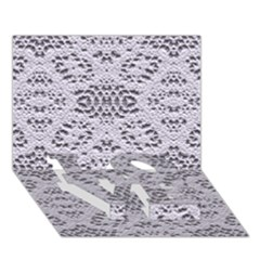 Bridal Lace 3 LOVE Bottom 3D Greeting Card (7x5)