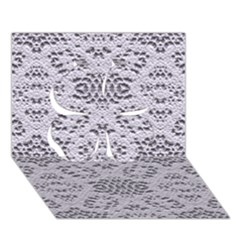 Bridal Lace 3 Clover 3D Greeting Card (7x5)