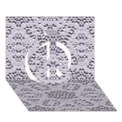 Bridal Lace 3 Peace Sign 3d Greeting Card (7x5)