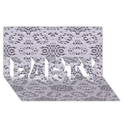 Bridal Lace 3 Party 3d Greeting Card (8x4)