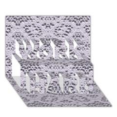 Bridal Lace 3 Work Hard 3d Greeting Card (7x5)