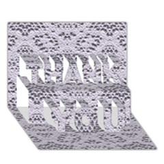 Bridal Lace 3 THANK YOU 3D Greeting Card (7x5)