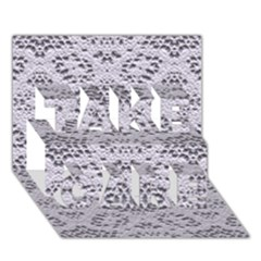 Bridal Lace 3 TAKE CARE 3D Greeting Card (7x5)