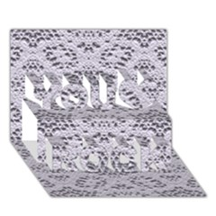 Bridal Lace 3 You Rock 3D Greeting Card (7x5)