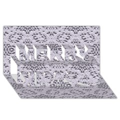 Bridal Lace 3 Merry Xmas 3d Greeting Card (8x4)