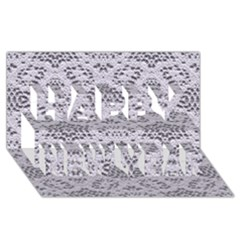 Bridal Lace 3 Happy New Year 3D Greeting Card (8x4)