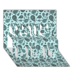 Vintage Paisley Aqua You Did It 3d Greeting Card (7x5)