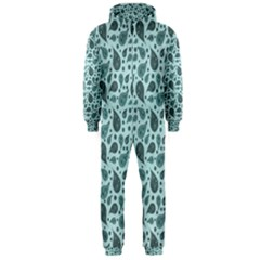 Vintage Paisley Aqua Hooded Jumpsuit (Men)
