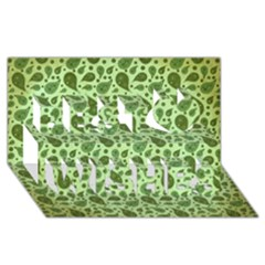 Vintage Paisley Green Best Wish 3d Greeting Card (8x4)