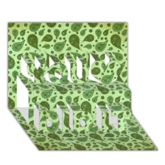 Vintage Paisley Green You Did It 3D Greeting Card (7x5)