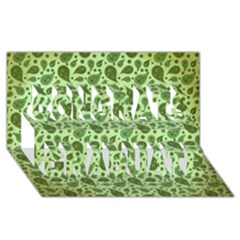 Vintage Paisley Green Congrats Graduate 3d Greeting Card (8x4)