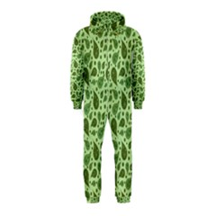 Vintage Paisley Green Hooded Jumpsuit (Kids)