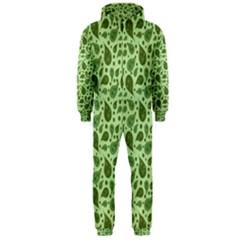 Vintage Paisley Green Hooded Jumpsuit (Men)